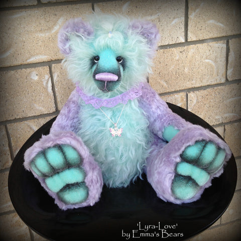 Lyra Love - 19IN hand dyed mohair artist bear by Emmas Bears - OOAK