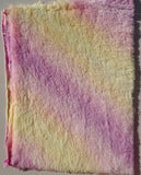 Medium Alpaca Warm Sunset - Fat 1/8m - Hand Dyed Rainbow fur - MAY055