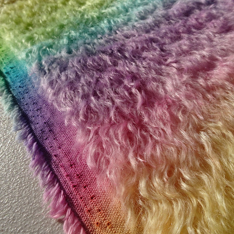 Bianca 20mm Mohair - Hand Dyed Rainbow - Fat 1/8m - MAY059