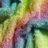 Double Thick Mohair - Hand Dyed Rainbow - Fat 1/4m -  MAY080