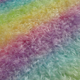 Double Thick Mohair - Hand Dyed Rainbow - Fat 1/4m -  MAY081