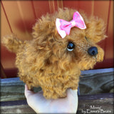 Missy Pup - 8IN mohair puppy soft sculpture by Emmas Bears - OOAK