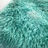 Curlylocks Mohair - Hand Dyed TEAL BATIK - Fat 1/4m - AUG014