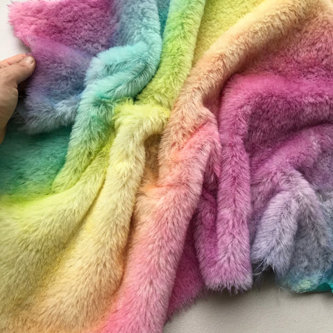 Medium Alpaca - Hand Dyed Rainbow - Fat 1/4m  - MAR030