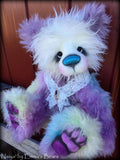 Naiya - 23IN hand dyed rainbow mohair bear by Emmas Bears - OOAK
