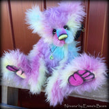 Nirvana - 21IN hand dyed rainbow mohair bear by Emmas Bears - OOAK