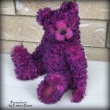 "Persephone - 14"" curly kid mohair Artist Bear by Emmas Bears - OOAK"