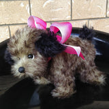 Sienna Pup - 8IN mohair puppy soft sculpture by Emmas Bears - OOAK