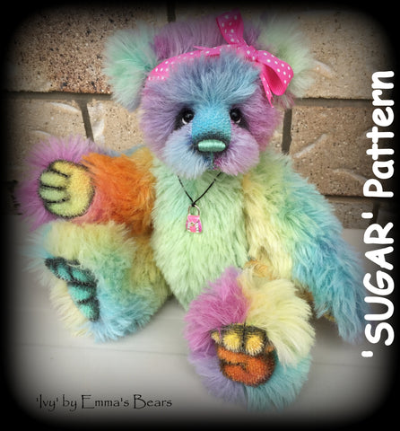 "Digital PATTERN - 12"" Sugar Bear"