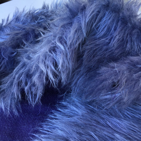 Long pile Mohair Tanzanite - Hand Dyed - 1/4m - J033