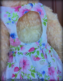 Toddler Abigail Aria - 21in hand dyed MOHAIR Artist toddler style Panda Bear by Emmas Bears - OOAK