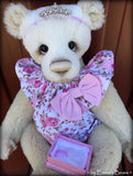 Toddler Matilda Molly - 21in hand dyed ALPACA Artist toddler style Panda Bear by Emmas Bears - OOAK