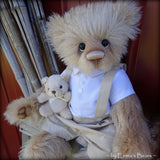 "Toddler Walter Fred - 22"" MOHAIR Artist toddler style Bear by Emmas Bears - OOAK"