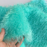 Curlylocks Turquoise - Hand Dyed mohair - 1/4m - FY006