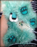 Umiko - 17IN hand dyed turquoise mohair bear by Emmas Bears - OOAK