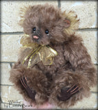 "Whisky - 10"" choc kid mohair bear by Emmas Bears - OOAK"