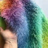 Eddie Long Shaggy Mohair - Hand Dyed RAINBOW DIAGONAL - Fat 1/4m - AUG006