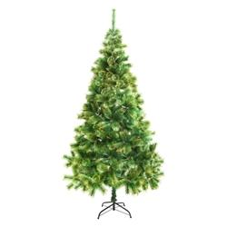 Luscious Artificial Indoor Christmas Holiday Pine Tree - 8 Foot - with Golden Tips