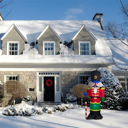 Giant Inflatable Nutcracker with UL Certified Blower and LED Lights - 8 Foot