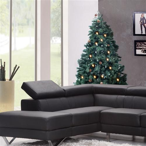 Pre-Lit Artificial Christmas Tree with Pine Cones - 8 Foot