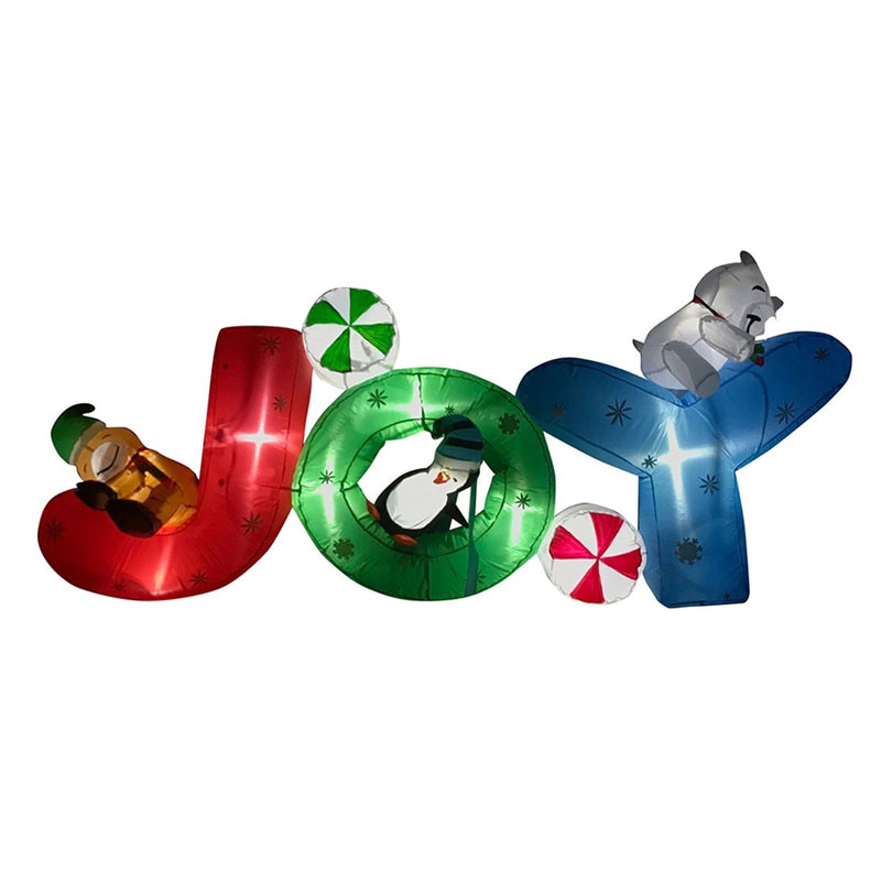 "Inflatable ""JOY"" Holiday Greeting with UL Certified Blower - 6 Foot"