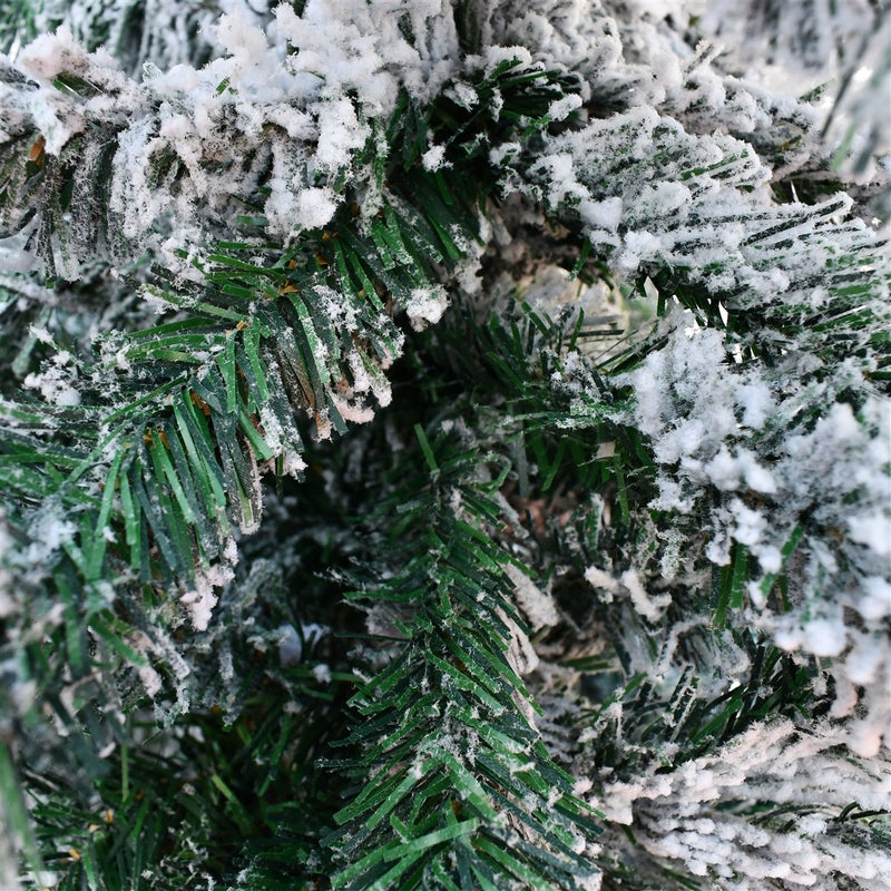 Artificial Holiday Flocked Pre-Lit Christmas Tree - 6 Foot - White
