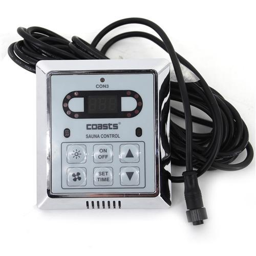 COASTS Sauna Heater for Spa Sauna Room - 4.5KW - 240V - Inner Controller - CON 3 Outer Digital Controller