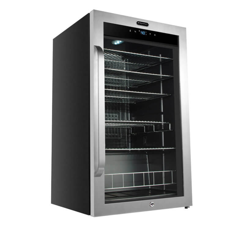 Whynter Freestanding 121 Can Beverage Refrigerator with Digital Control and Internal Fan BR-1211DS