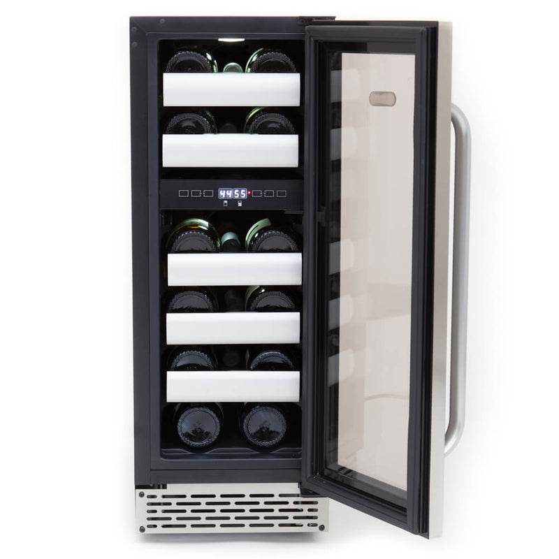 Whynter Elite 17 Bottle Seamless Stainless Steel Door Dual Zone Built-in Wine Refrigerator BWR-171DS
