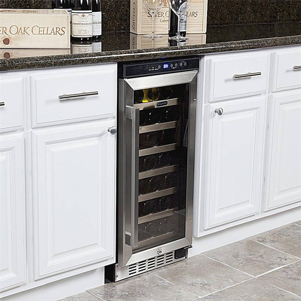Whynter 33 Bottle Built-In Wine Refrigerator BWR-33SD