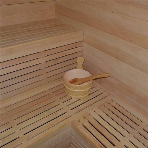 CED6HELSINKI 4-5 Person Canadian Red Cedar Wood Indoor Wet Dry Sauna with 4.5 kW ETL Electrical Heater