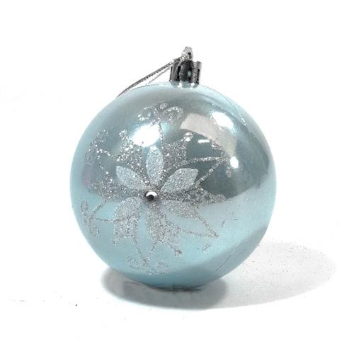 Shatterproof - Iridescent Holiday Ornament Variety Pack - Set of 9 - Blue and White