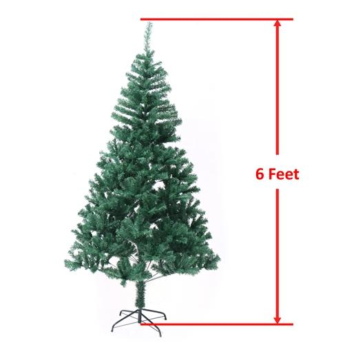 Traditional Artificial Holiday Pine Tree - 6 Foot - Green