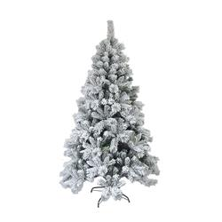 Snow Dusted Artificial Holiday Christmas Tree - 8 Foot - with Green Metal Stand