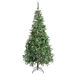 Luscious Artificial Indoor Christmas Holiday Pine Tree - 9 Foot - with Pine Cones