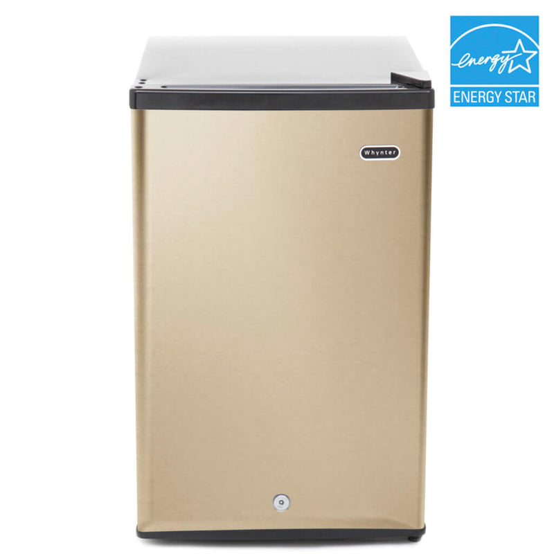 Whynter 2.1 cu.ft Energy Star Upright Freezer with Lock in Rose Gold CUF-210SSG