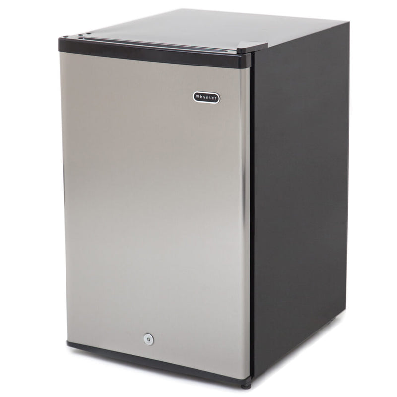 Whynter 3.0 cu. ft. Energy Star Upright Freezer with Lock – Stainless Steel CUF-301SS