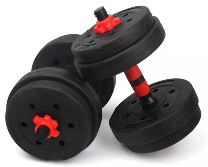 Adjustable Dumbbell Set for Home Gym - 44 lbs (20 kg) - Black