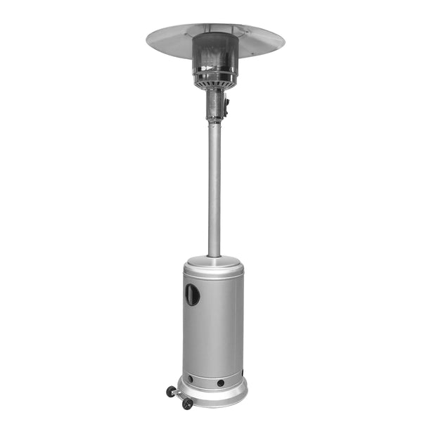 Outdoor Propane Patio Heater with Adjustable Thermostat - Silver