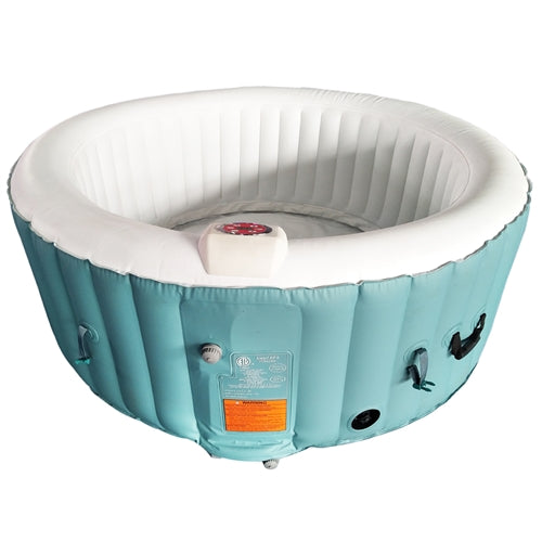 Round Inflatable Hot Tub Spa With Cover - 4 Person - 210 Gallon - Light Blue