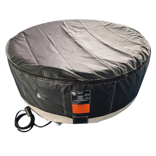Round Inflatable Hot Tub Spa With Zip Cover - 4 Person - 210 Gallon - Black and White
