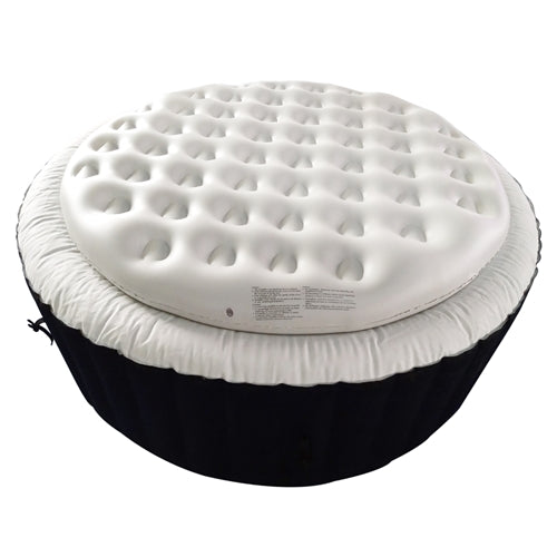 Inflatable Round Insulator Top for 6-Person Inflatable Hot Tub - White
