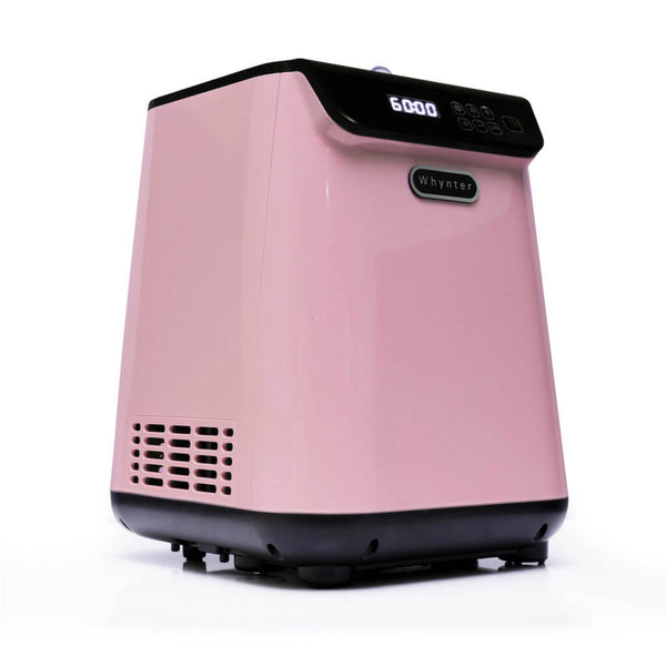 Whynter 1.28 Quart Capacity Compact Upright Automatic Compressor Ice Cream Maker with Stainless Steel Bowl Limited Black Pink Edition ICM-128BPS