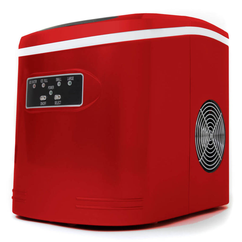 Whynter Compact Portable Ice Maker 27 lb capacity – Metallic Red IMC-270MR