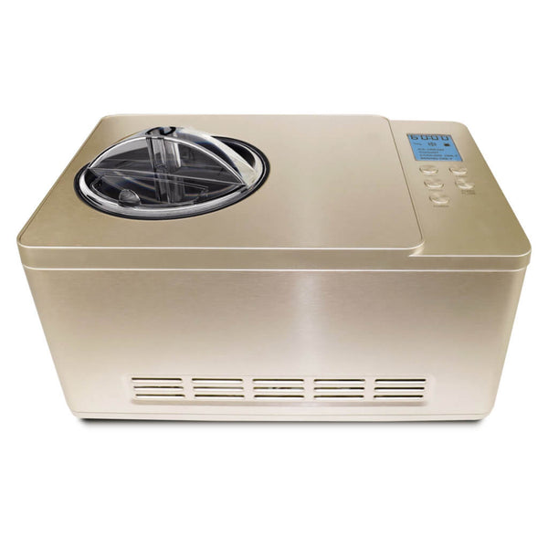 Whynter 2 Quart Capacity Automatic Compressor Ice Cream Maker & Yogurt Function with Stainless Steel Bowl in Champagne Gold ICM-220CGY