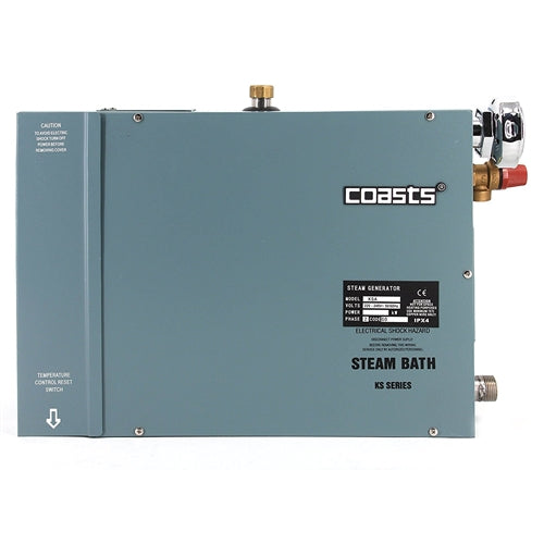 COASTS Steam Generator for Steam Saunas - KS200A Controller - KSA90 - 9KW - 240V