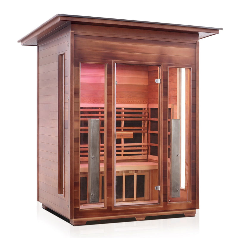 Enlighten RUSTIC - 4 Slope Full Spectrum Infrared Sauna