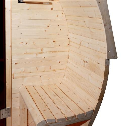 Pine Barrel Sauna with Panoramic View - 4.5 kW ETL Certified - 5 Person