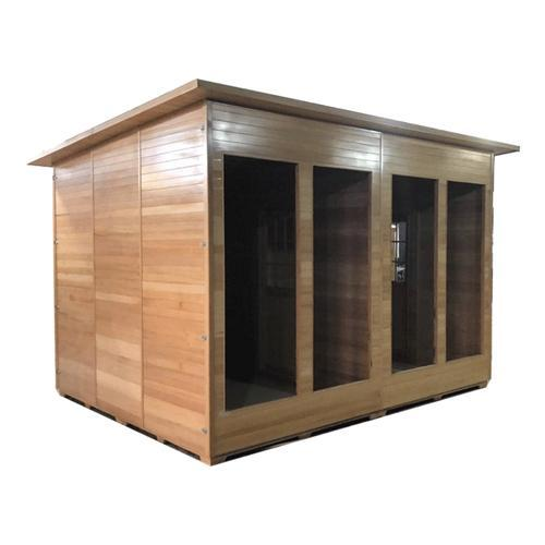 Canadian Cedar Outdoor and Indoor Wet Dry Sauna - 9 kW ETL Certified Heater - 10 Person