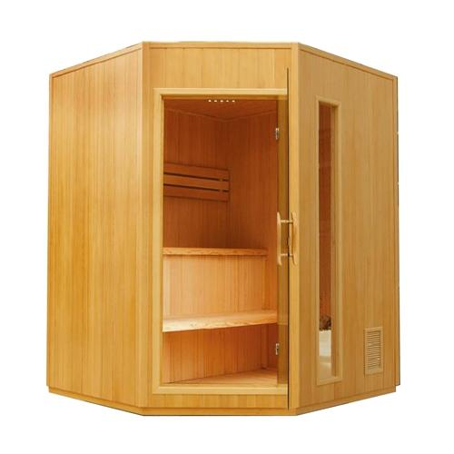 Canadian Hemlock Indoor Wet Dry Sauna - 4.5 kW ETL Certified Heater - 4 Person